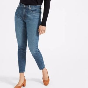 Everlane High Rise Skinny Ankle Jeans Mid Blue 25